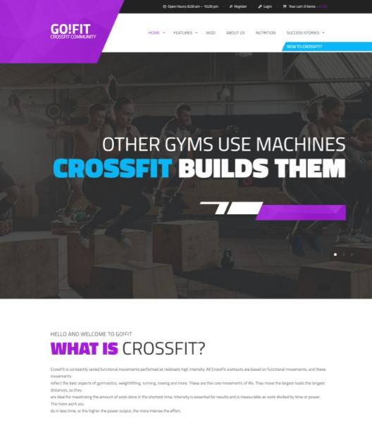 itness, Gym and Crossfit WordPress Theme