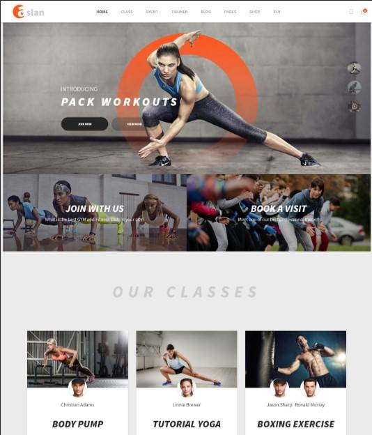 Modern Gym & Fitness Responsive WordPress Theme