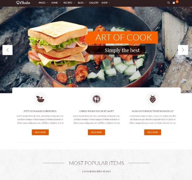 Choko Food wordpress themes