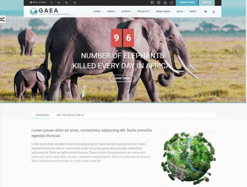 Gaea - Environmental WordPress Theme