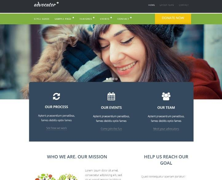 Advocator: Nonprofit & Charity Responsive WordPress Theme