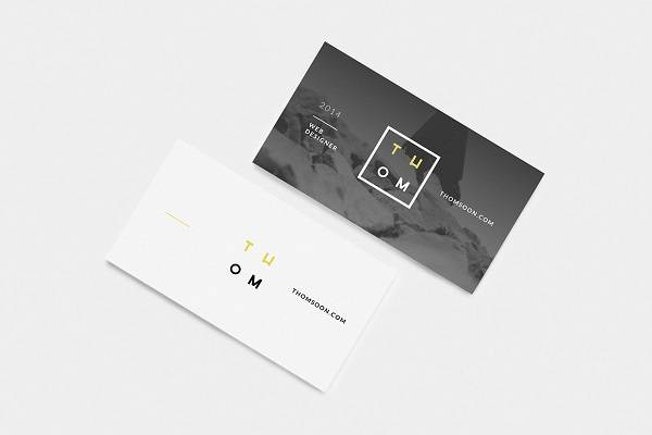 Clean Business Card Free Mockup