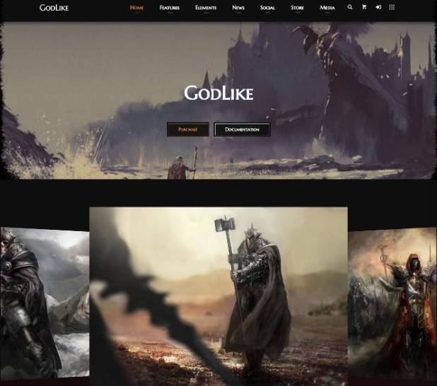 Godlike - Game Theme for WordPress