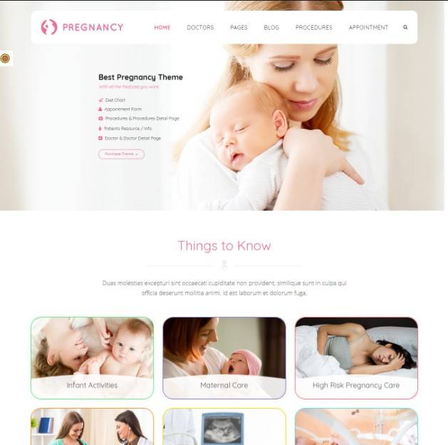Pregnancy Medical - Health, Medical, Gynaecologist Theme