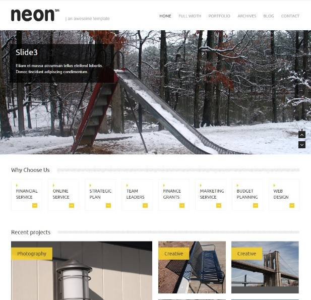 Neon - Clean and Modern WordPress Theme