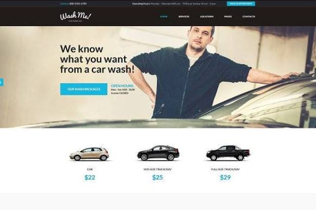 WashMe wordpress theme
