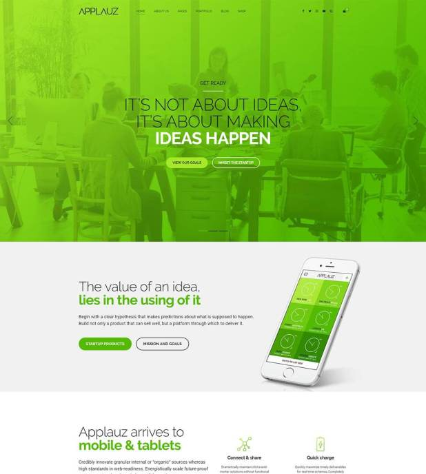 Applauz wordpress theme