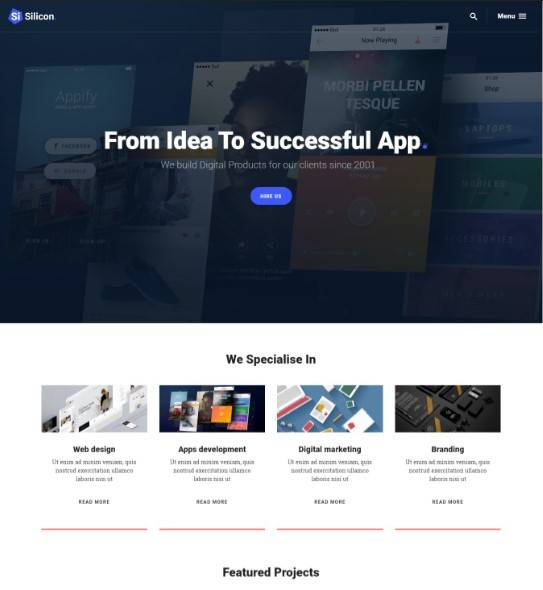 Silicon wordpress theme