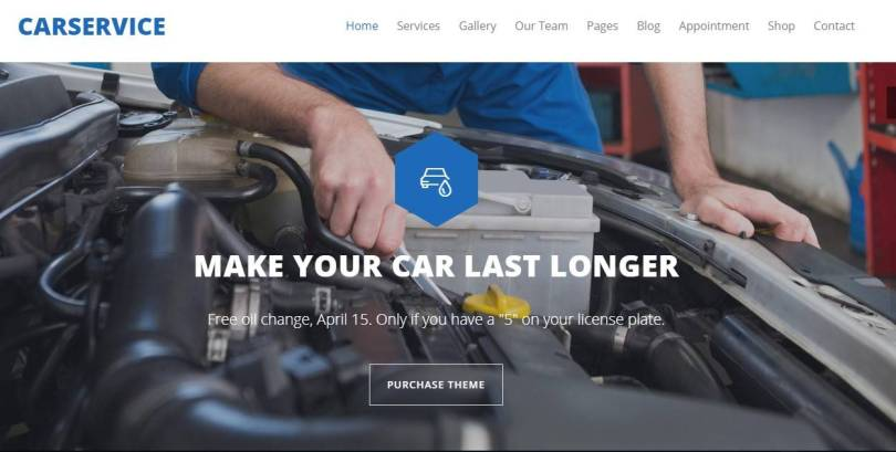 Car Service wordpress themes