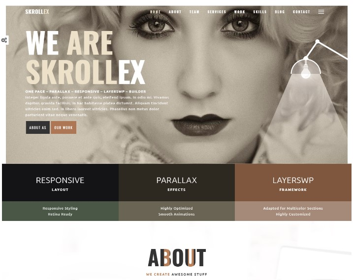 Skrollex - Creative One Page Parallax wordpress themes