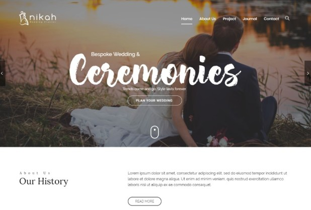 Nikah | Wedding Organizer & Planner wodpress themes