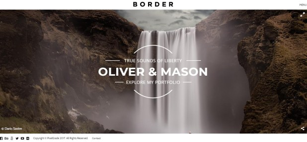 BORDER - A Delightful Photography WordPress Theme
