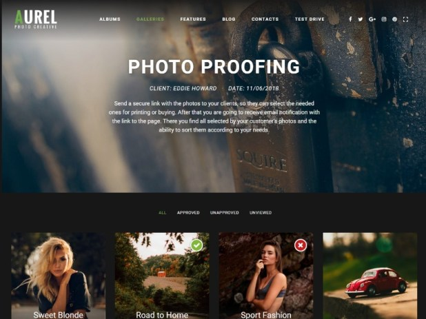 Photography | Aurel Photography WordPress for Photography