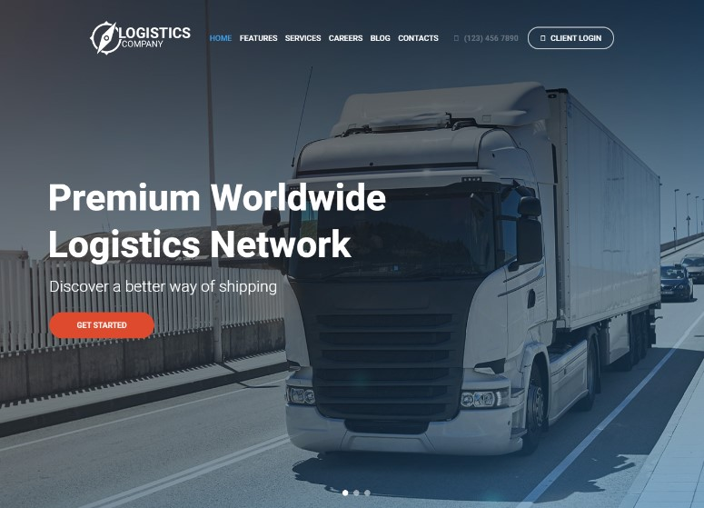 Logistics / Transportation / Warehousing WordPress Theme