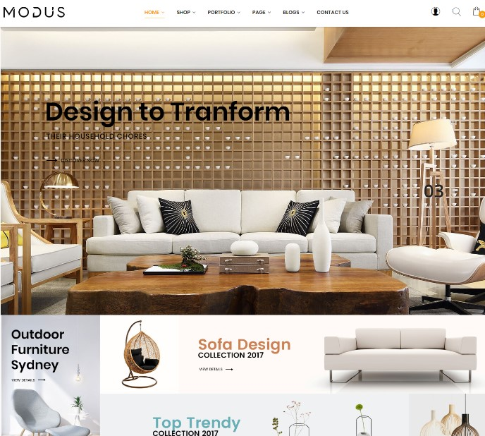 Modus - Modern Furniture WooCommerce Theme
