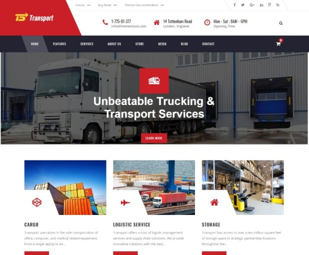 Transport - Transport, Logistic & Warehouse WordPress Theme