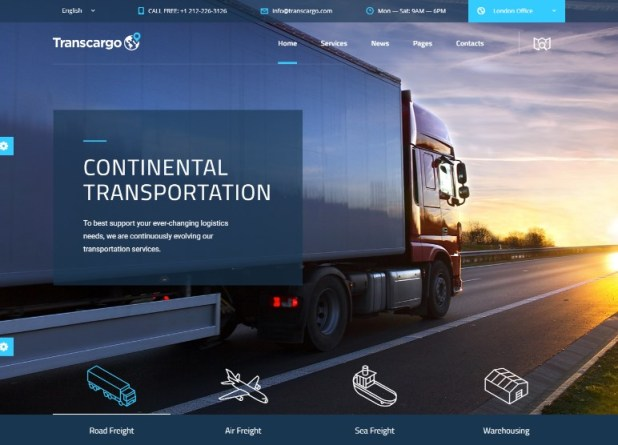 Transcargo - Transport WordPress Theme