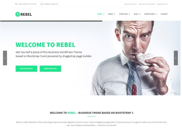 Rebel - WordPress Business Bootstrap Theme