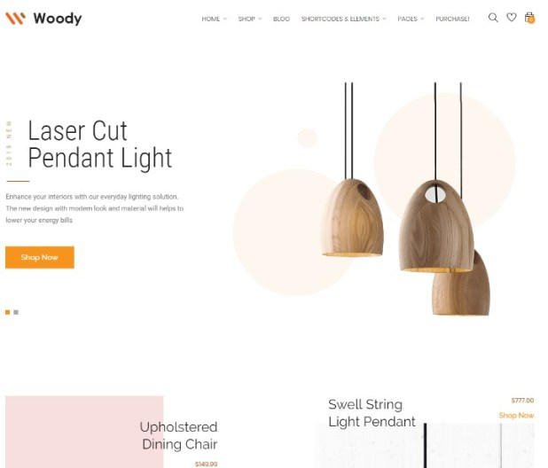 Woody - Furniture WooCommerce WordPress Theme