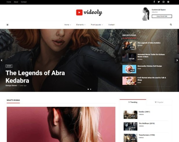 Videoly - Video WordPress Theme for Video Bloggers