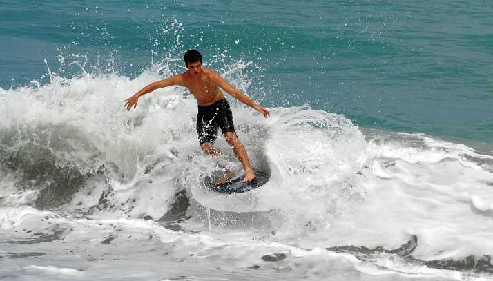 Choose Size and Color Waveline Neon Wooden Skimboard
