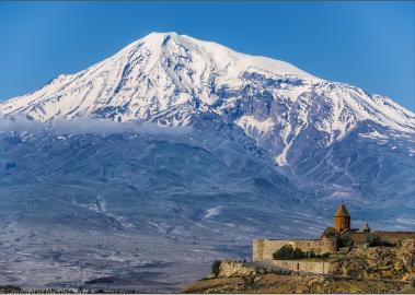 Berg Ararat mit Kloster Chor Virap Armenien