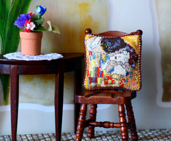 miniature dollhouse pillow