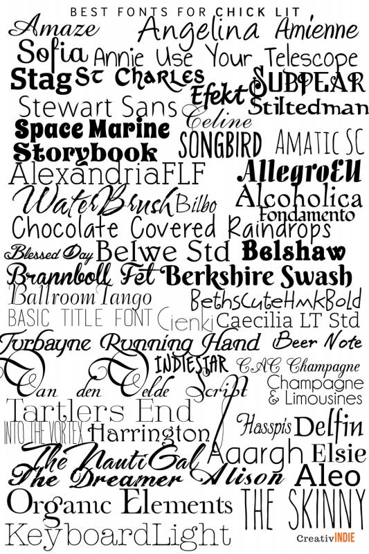 chicklit-533x800 What font should you use on your book cover design? Check this awesome list of best fonts per genre!