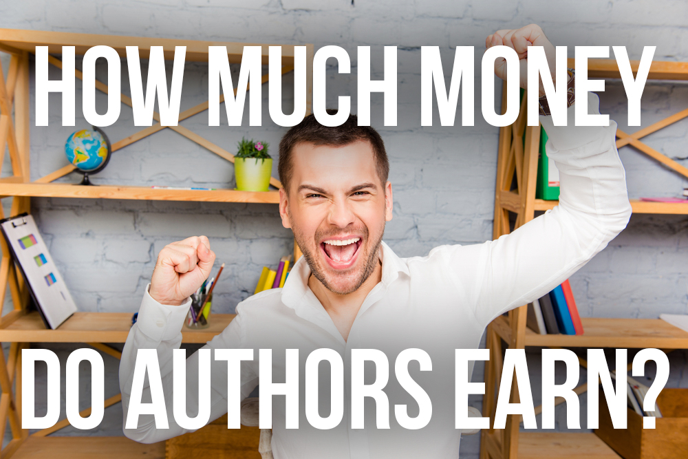 How much does the average author earn publishing their book  Creativindie