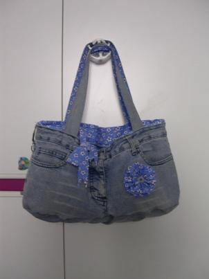 Borsa da riciclo jeans  Tutorial