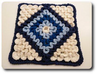Schema e istruzioni per realizzare mattonella uncinetto crochet