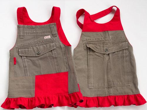 Come cucire scamiciato bimba da riciclo pantaloni  Tutorial