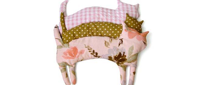 Come fare un cuscino con i noccioli di ciliegia a forma di gatto  Tutorial