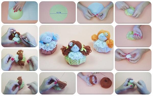 Come fare Mini Dolls in stoffa facilissime  Tutorial