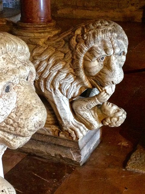 Sculpture detail from the Barga Cathedral