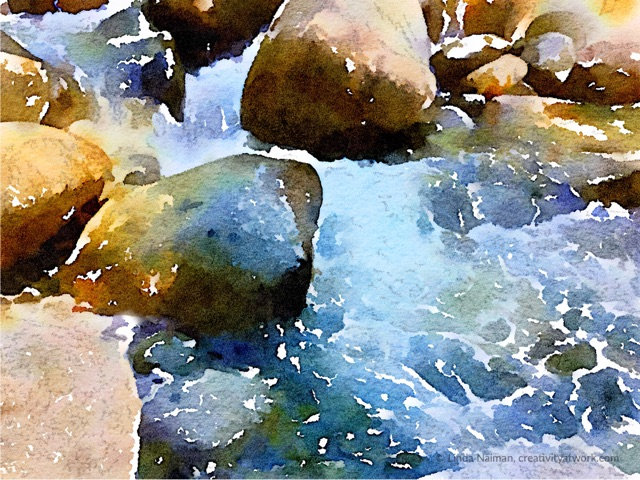 Lynn Canyon Rocks and Rapids By Linda Naiman © 2017