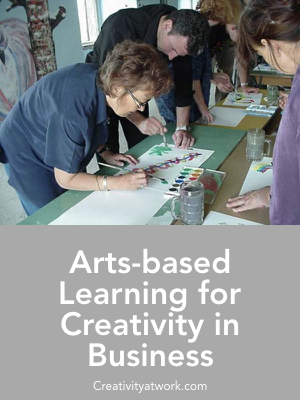 Arts-based learning workshops for creativity in business