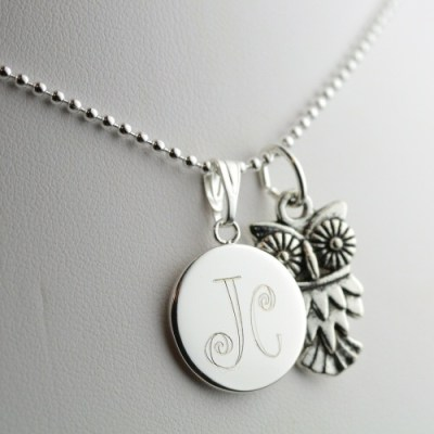 New Product: Engraved Owl Necklace