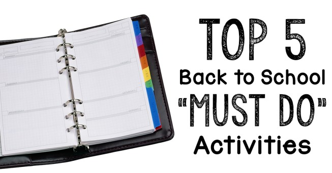 Afraid you're going to mess up when it's time to go back to school? Here's our top five activities that we feel everyone should do when back to school rolls around again! They'll set you up for a successful new school year!