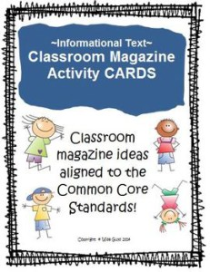 Informational Text Task Cards: Common Core Aligned