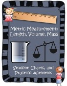 Metric Measurement System: Length, Volume, and Mass Charts and Activities – great resource pack full of activities to help your students master the metric system!
