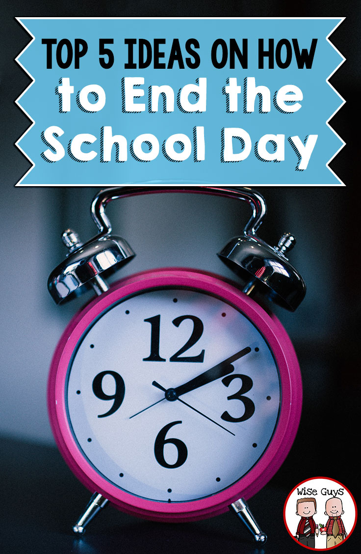 The end of the school day can always be tricky. What do you do with those 5-10 minutes before the students leave? We have come up with our top 5 ideas on how to end the school day with our upper elementary age students.