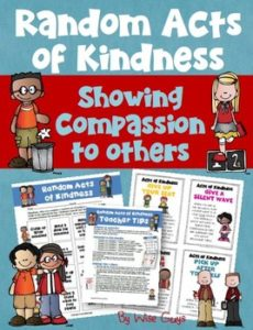 This random acts of kindness activity will have your students show compassion and respect to other students and teachers at your school.