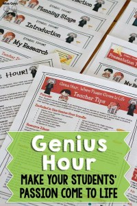 This is a comprehensive unit on how to implement Genius Hour into your classroom. Genius Hour is a time set aside during the school day for students to research something they are passionate about.