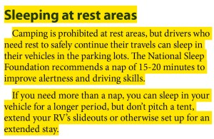 How to Overnight at Rest Areas: The Rules and The Real Scoop