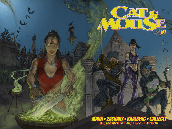 Cat & Mouse #1, the first of a four issue mini-series Set in