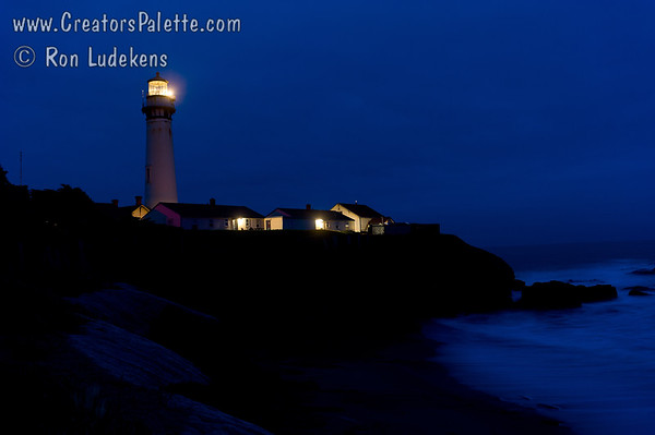 Pigeon Point Lighthouse before sunrise