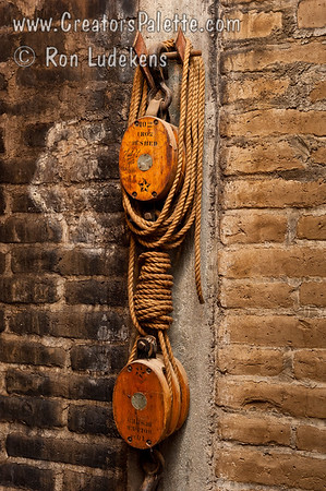 Block and Tackle on old Adobe Walls