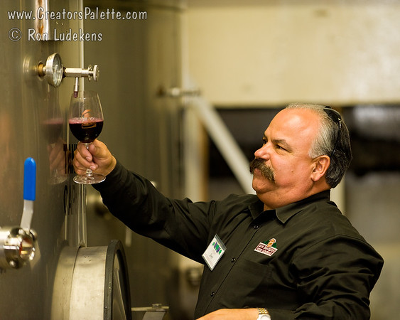 Wine Pouring from Spigot