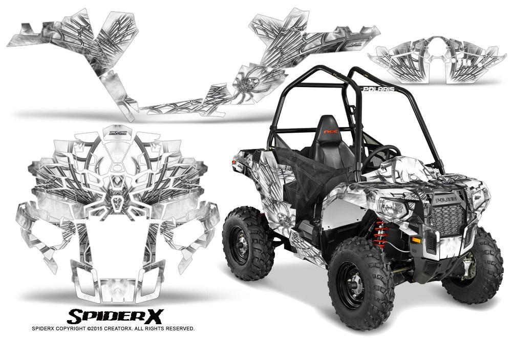 Polaris-Sportsman-ACE-CreatorX-Graphics-Kit-SpiderX-White